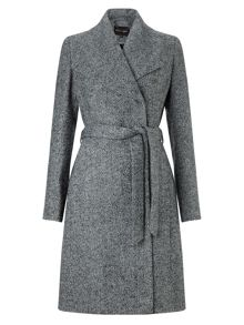 Phase Eight Devyn texture belted coat