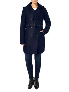 Alanna hooded trench coat