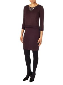 Phase Eight Darina double layer knit dress