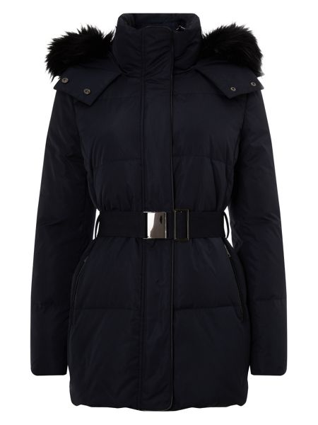 Phase Eight Keela fur trim puffer