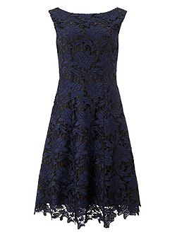 Anouk lace fit & flare dress