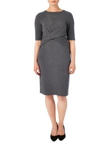 Latticia textured dress