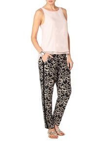 Bridgette soft print trousers