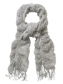 Sally swirl knitted scarf