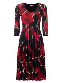 Alena printed dress