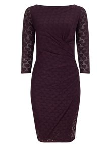 Phase Eight Textured heart dress
