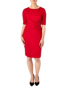 Amy drape front dress