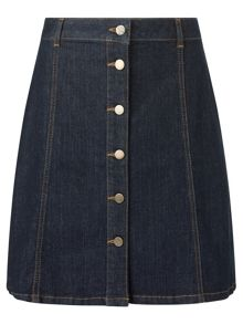 Phase Eight Bea Button Denim Skirt
