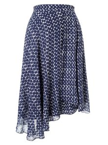 Quin printed asymmetric skirt