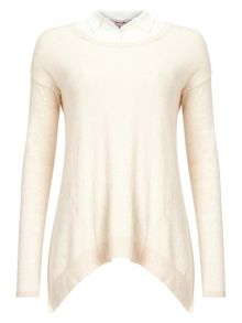 Phase Eight Dianna silk shirt knit top