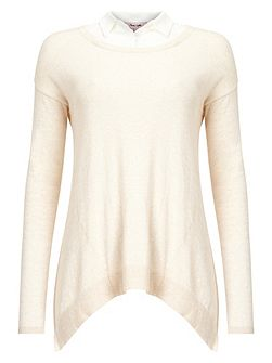 Dianna silk shirt knit top