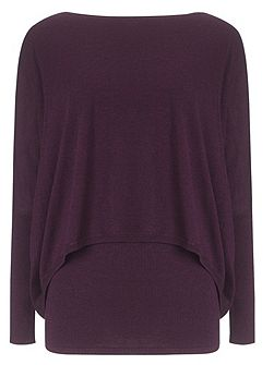 Charley crop double layer jumper