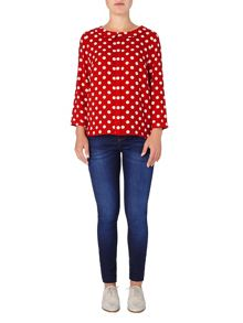 Marilyn spot blouse