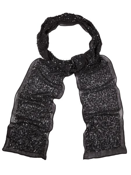 Phase Eight Holly skinny sequin scarf