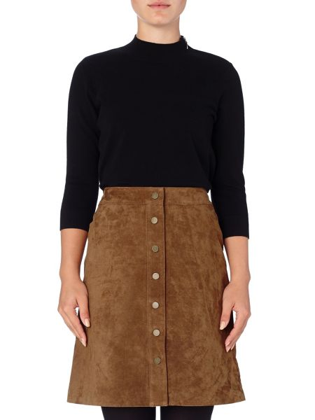 Phase Eight Tamsin suede skirt
