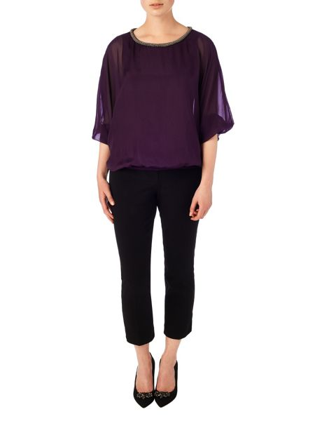 Phase Eight Jessica beaded neck blouse