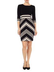 Phase Eight Magdalena chevron knit dress