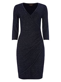 Shimmer maisie wrap dress