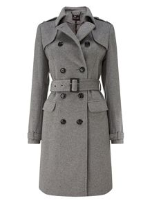 Jillian belted trench coat