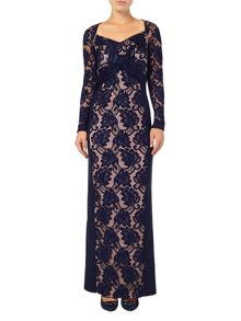 Phase Eight Naomi lace maxi dress