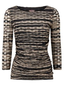Phase Eight Tammy textured spot top