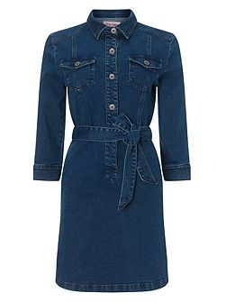Dina denim shirt dress