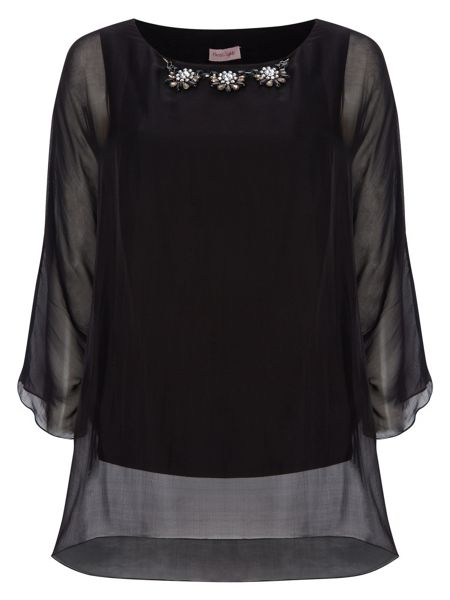 Phase Eight Rosa silk beaded blouse