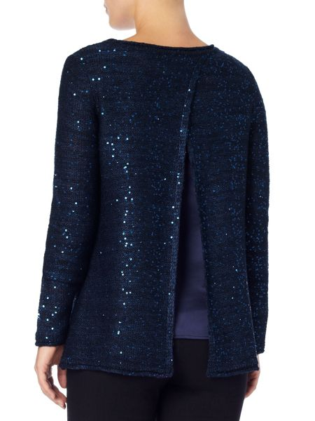 Phase Eight Aisha sequin split back knit jumper