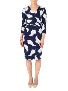 Phase Eight Feather print dress