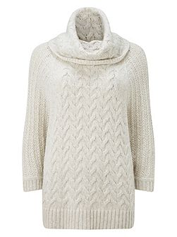 Marina cable batwing knit jumper