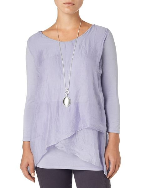 Phase Eight Megan silk and jersey blouse