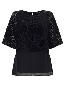 Phase Eight Shivani devore blouse
