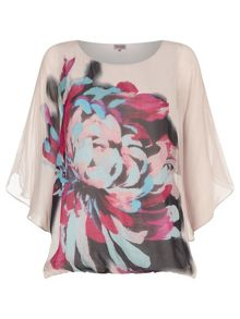 Dorika Placement Floral Silk Blouse