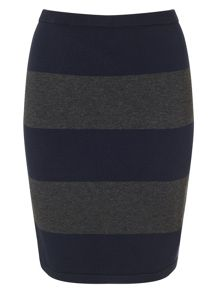Phase Eight Lia stripe knit skirt
