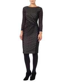 Phase Eight Spot mesh dress