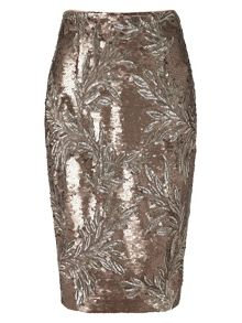Phase Eight Nasia short sequin skirt