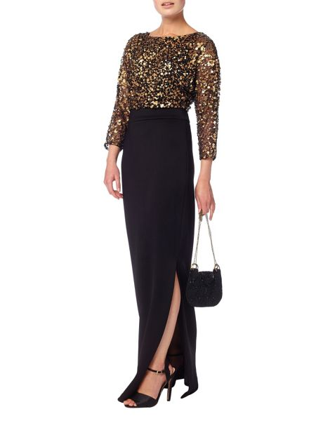 Phase Eight Alyona sequin blouson full length dress