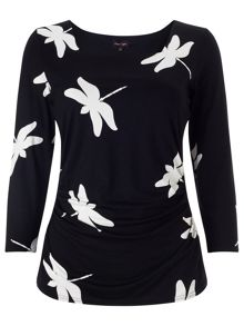 Dragonfly print top
