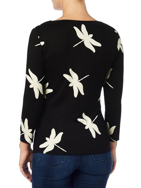 Phase Eight Dragonfly print top