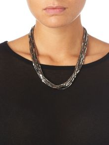 Gemma multi row necklace