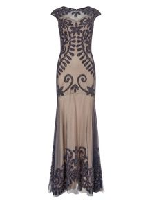 Phase Eight Perseus lace applique dress