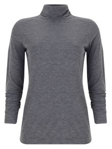 Ginia roll neck top