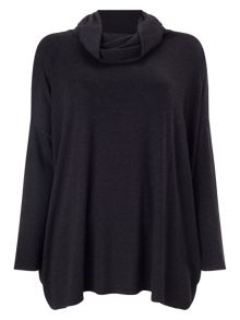 Rhona rectangle roll neck jumper