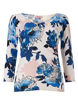 Phase Eight Emerson print knit top
