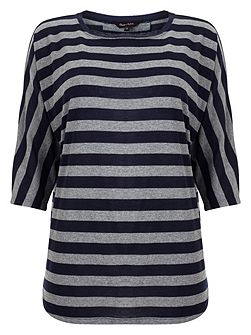 Stripe saskia slub top
