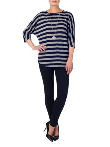 Phase Eight Stripe saskia slub top