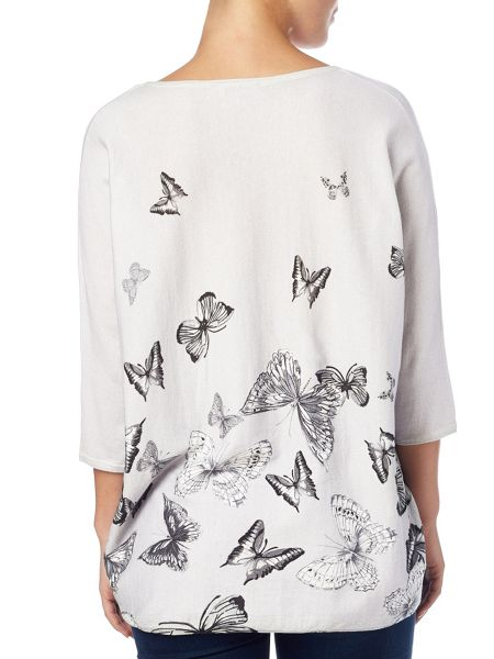 Phase Eight Bendetta butterfly print knitted top