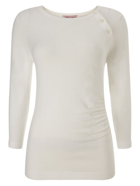 Phase Eight Bianka Button Knit Top