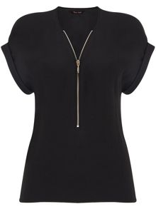 Phase Eight Remi zip front crepe blouse