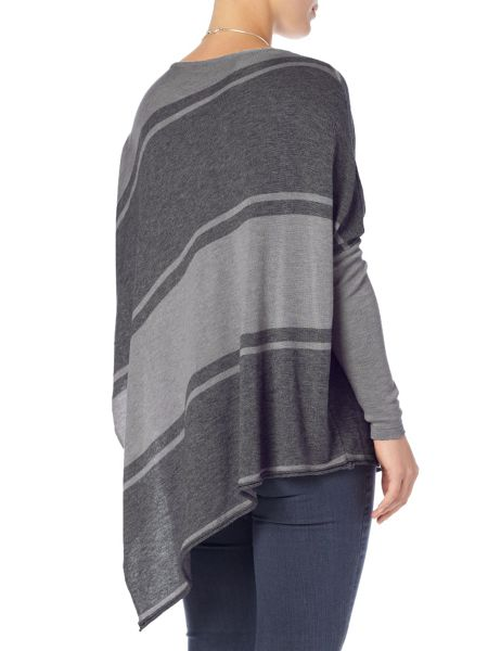Phase Eight Stripe melinda asymmetric knit jumper